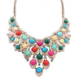 12eea8d68 Fashion Jewelry Elegantný masívny farebný náhrdelník NKC6-3 ...