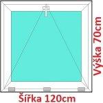 Soft Plastové okno 120x70 cm, sklopné
