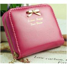 bd5616210a Dámská malá peňaženka s mašľou růžová Lifestyle FXCblueR