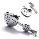 Prívesok pre dvoch, puzzle Srdce & klúč Impress Jewelry F00012