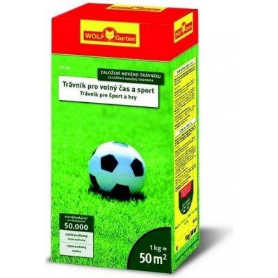 1kg Trávne osivo - WOLF SG 50 - Trávnik pre šport a hry (50 m2)