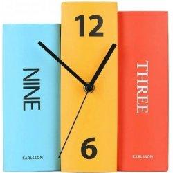 Stolové hodiny Karlsson Kniha 4284 F 20 cm