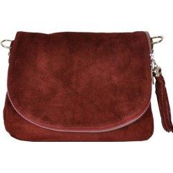 72f02a7906 kožená semišová kabelka 28 bordová alternatívy - Heureka.sk