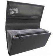 Čašnícka kasírka 2 zipsy, koženka, čierna