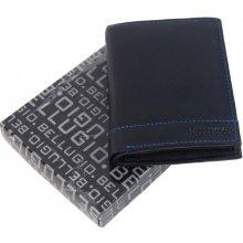 2337de70eb Bellugio čierno modrá pánska kožená peňaženka v darčekovej krabičke