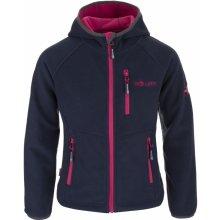 Trollkids Dievčenské fleecová bunda Borgund modro-ružová