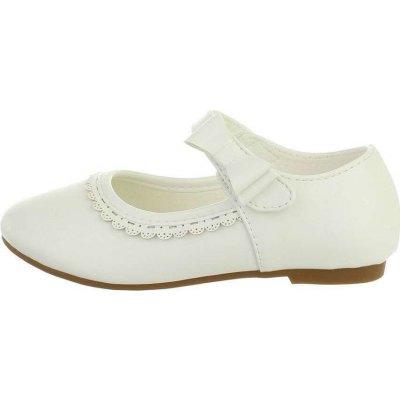 Dievčenské balerínky biele
