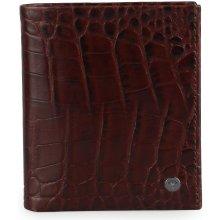 9b092af1a Pánska kožená peňaženka Daphnis Crocco 4140002276 tmavě hnědá