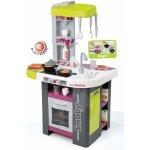 SMOBY 311001 elektronická kuchynka TEFAL STUDIO BBQ fialovo-zelená s opečenými potravinami a grilom zvuková + 29 doplnkov