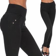 f11dc3e3ca85 Fashionweek Elegantne nohavice slim fit čierne legíny push up TC556