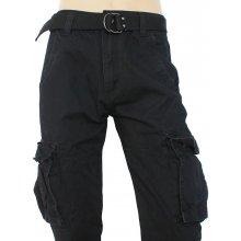 9122a1f4bdff QUATRO nohavice pánske Q2-1 kapsáče čierné