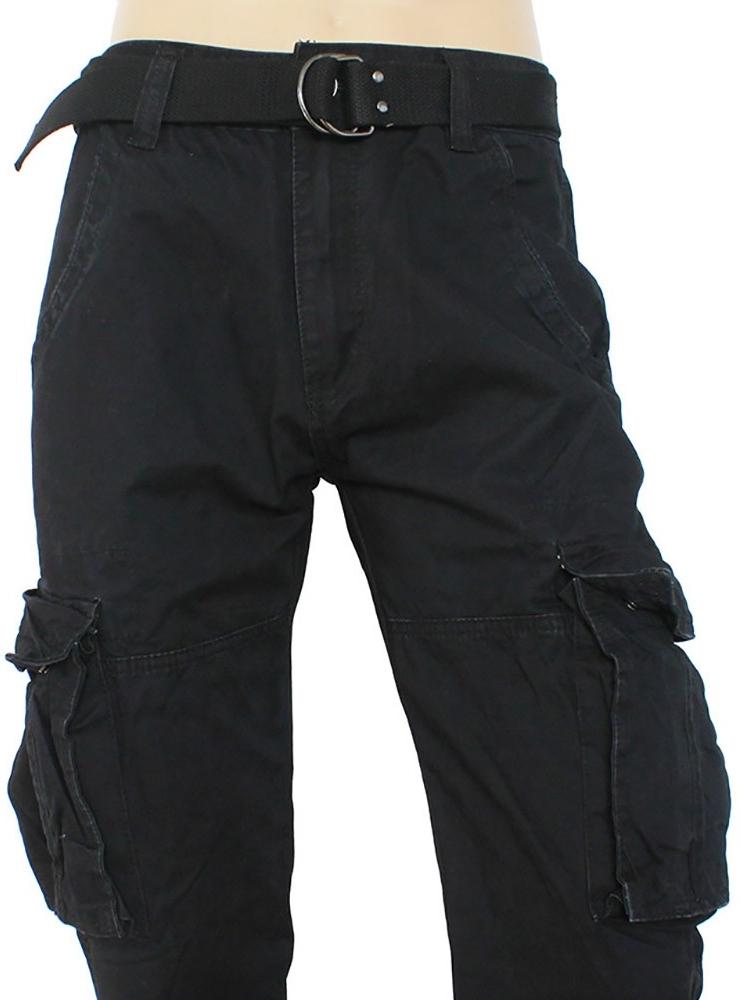 b63cdc7e8020 QUATRO nohavice pánske Q2-1 kapsáče čierné od 26