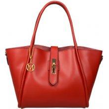 Mangotti kožená kabelka 3039 Rosso