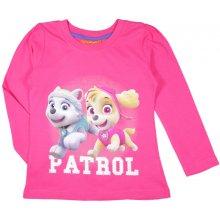 E plus M Dievčenské tričko Paw Patrol - ružové