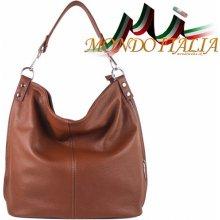 Made In Italy kožená kabelka 680 hnedá 270295b6fc0