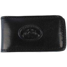 Kožená spona na bankovky 1201 Conta, Tony Perotti, černá