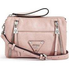 GUESS Elegantní crossbody kabelka Presley Top Zip Cross-Body růžová mGU0160