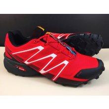 Pánska trailová obuv 3247M3 Čierna Červená