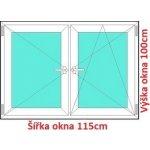 Soft Dvojkrídlové plastové okno 115x100 cm, O+OS