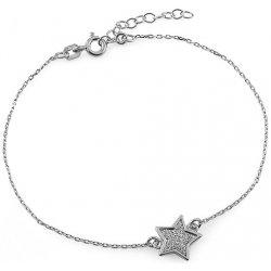 iZlato Design strieborný náramok s hviezdou Glitter IS2072N ... e67bff8965c