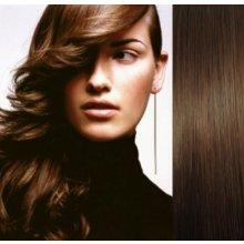Clip in vlasy 43cm 100% ľudské - REMY 70g - stredne hnedá 263964c7c79