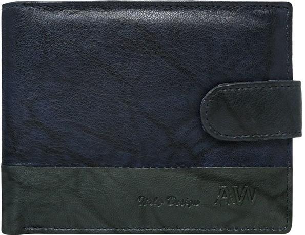 9d7b239a0 Peňaženka Always Wild pánská kožená peňaženka Wesly modrá ...
