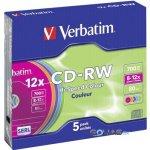 Verbatim CD-RW 700MB 12x, 5ks