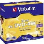 Verbatim DVD+RW 1,4GB 4x, 5ks
