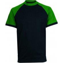 CXS Tričko s krátkým rukávem OLIVER černo-zelené