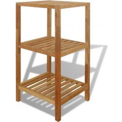 cf7631e37 vidaXL Regál do kúpeľne, masívne orechové drevo, 36x36x79cm ...