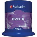 Verbatim DVD+R 4,7GB 16x, 100ks