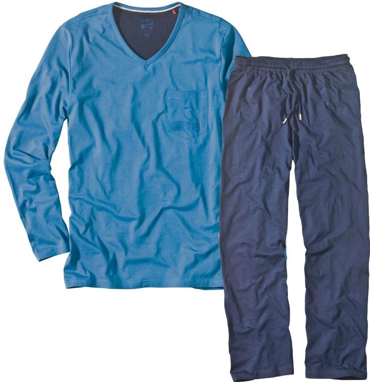 796efcc92883 Pánske pyžamo Pánske pyžamo bavlnené modré - Zoznamtovaru.sk