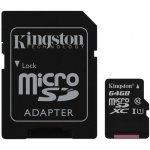 Kingston microSDXC 64GB UHS-I U1 + adapter SDC10G2/64GB