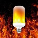 R8 E27 LED žiarovka, PLAMEŇ 7W Teplá bielaa