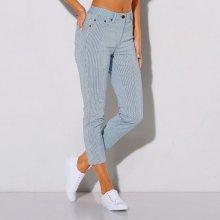 094e5fd36 Blancheporte 3/4 nohavice, prúžkované biela/modrá