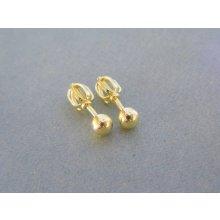 0b27523e5 MARM Design dámske náušnice guličky šrubovačky žlté zlato VDA094Z