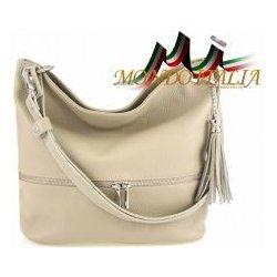 7c6a7387b Made In Italy kožená kabelka na rameno 91 šedohnedá od 61,00 ...