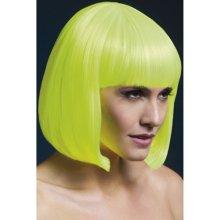 Fever Elise Wig Neon Yellow Sleek Bob with Fringe