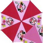 Euroswan Vystreľovací dáždnik Minnie prúžky červená pr. 81 cm