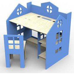 cd016cf19616 Planeco Drevený stôl so stoličkou PRINCES modrý alternatívy - Heureka.sk