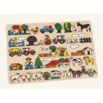 Bino dřevo puzzle velké zvířata