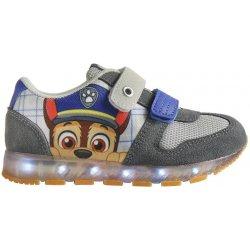 Disney Brand Chlapčenské svietiace tenisky Paw Patrol šedomodré ... 32be561f070