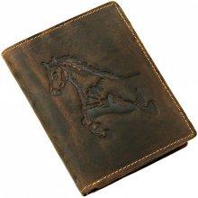 GREENBURRY Nemecko peňaženka z brúsenej kože GreenBurry HORSE 1701-25 peňaženka hnedá mramorovaná