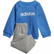 Adidas detská súprava performance I lin jogg fl modrá   biela f80b35671ef