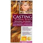 L'Oréal Casting Creme Gloss šetrné zloženie bez amoniaku Medená zlatá blond 834