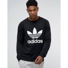 Adidas Originals TREFOIL CREW Pánska mikina černá