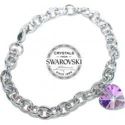 99332e5bf Oceľový náramok Srdce vyrobený so Swarovski Elements Vitrail Light LSW082B
