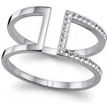 Strieborný prsteň s krištáľmi Swarovski Oliver Weber Stop 63212 06e36b9a976