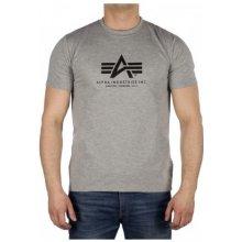 Alpha Industries Basic T Shirt 17 šedá
