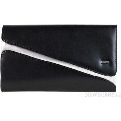 31b82e92807f Grosso Matná spoločenská listová kabelka SP127 čierno-strieborná ...